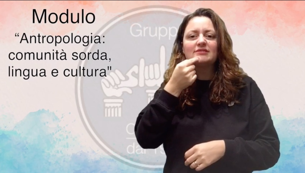 ANTROPOLOGIA: COMUNITA' SORDA, LINGUA E CULTURA